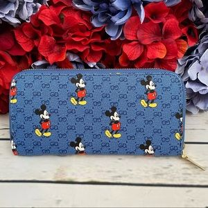 Blue Mickey Mouse Clutch Wallet Checkbook